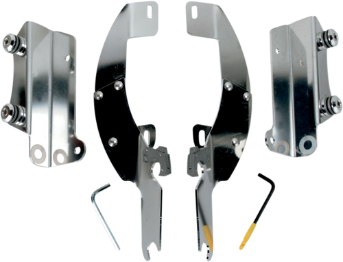 Memphis  Shades Batwing Windshield Mounting Kit for Nomad 1500 '01-04 FI Models Only!! -Polished FAIRING AND WINDSHIELD NOT INCLUDED
