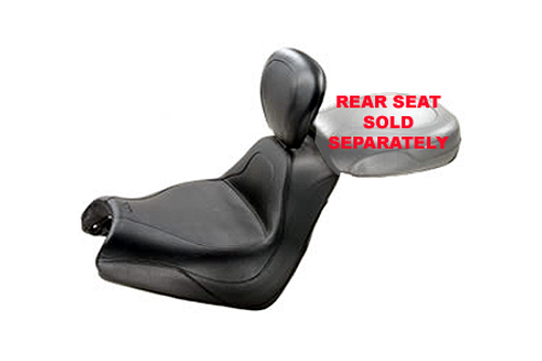 Mustang  Sport Touring Solo Seat with Driver Backrest  for VTX 1800F '05-up -Vintage