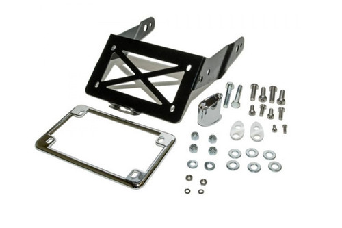 Easy Brackets Turn Signal/License Plate Relocation Kit  w/ Lighted License Plate Frame  for Nightster, 48, 72 & Iron 883