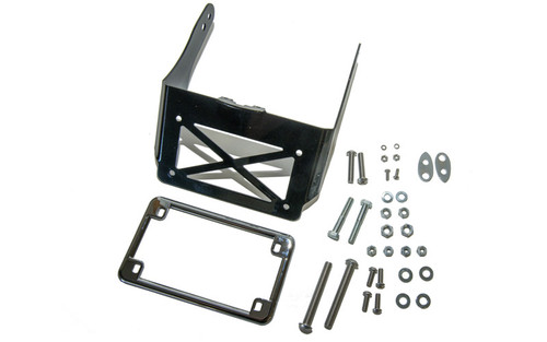 Easy Brackets Turn Signal Relocation Kit  for '10-17 Dyna Wide Glide For Use With Stock Fixed Back Rest