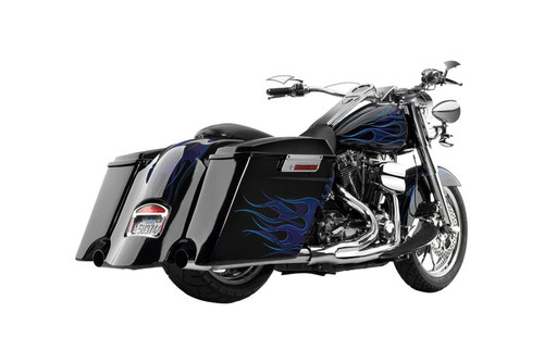 Cycle Visions Fender Extension for Extended Saddlebags w/cut-outs for '97-08 FLH
