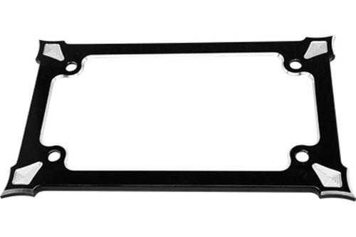 Precision Billet License Plate Frame for Harley Davidson Models, Darkside Edition -Black