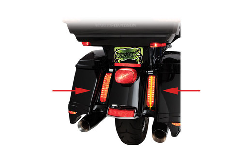 Ciro Filler Panel Lights for '14-Up FLHTCU/L Electra Glide Ultra Classic/Low, Road Glide Ultra, Ultra Limited, FLHTK/L Ultra Limited/Low & FLHR Road King - Black