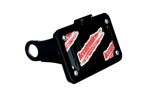 Accutronix Side Mount License Plate Assembly for '04-13 XL Models -Black Anodized