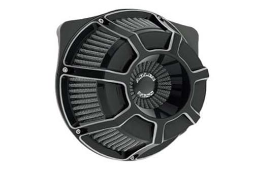 Arlen Ness Inverted Series Air Cleaner Kits for '99-06 Twin Cam CV Carb, '01-17 Twin Cam Delphi EFI Models (Excludes 08-17 FLH, FLT; 16-17 FLSTFS, FLSS models) - Beveled, Black Anodized