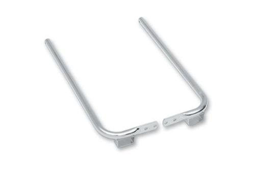 Drag Specialties Chrome Saddlebag Support Brackets for '93-08 FLHT/FLHR; '98-03 FLTR (Except FLHRS) Replaces OEM #49194-85 & 90781-93