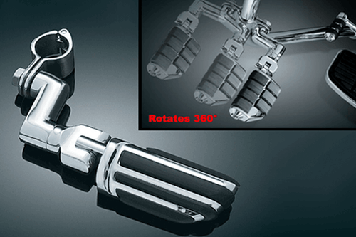 Kuryakyn Offset Highway Pegs with Pilot Pegs & Clamps Fit 1 inch & 1.25 inch Bars [4438, 4436]