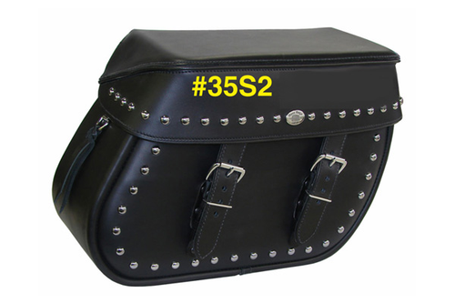 Boss Bags #35 for Dyna '94-up -Studded Lid Valence & Studded Body