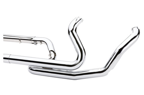 Cobra Power Port Dual Bung Headpipes for '09-16 Harley Davidson Touring Models Chrome