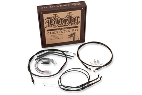 Burly Brand Handlebar Installation Kit for '04-06 XL -w/ Burly Clubman Hanldebars