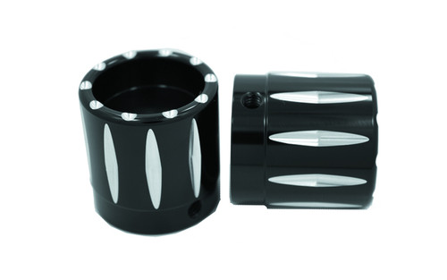 Avon Axle Nut Covers for all H-D Touring -Rival, Black-1""