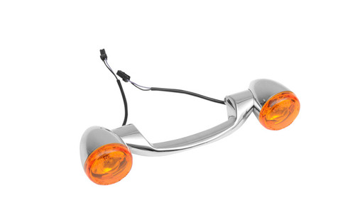 Drag Specialties Bullet Style Rear Turn Signal Kit  for Certain FL & Softail Models Click for Fitment