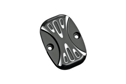 Arlen Ness Brake Master Cylinder Covers for '05-07 FLT  & '06-Up Softail -Deep Cut Black, Rear