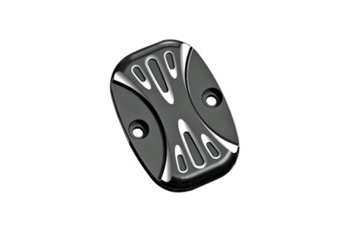 Arlen Ness Brake Master Cylinder Covers for '05-07 FLT  & '06-Up Softail -Deep Cut Black, Rear