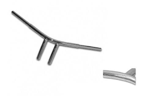 Baron Custom Radius Enferno Drag Bars for Yamaha - Chrome (Click for fitment)