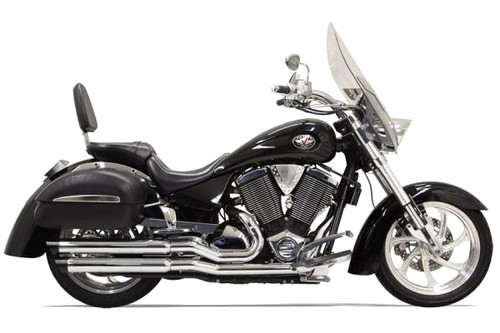 Bassani Pro Street Exhaust Shown in Chrome