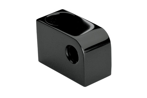 """Headwinds  Wide Glide Triple Trees   Headlight Mounting Block   5/8"""" vertical offset and 3/4"""" horizontal offset  Black"""