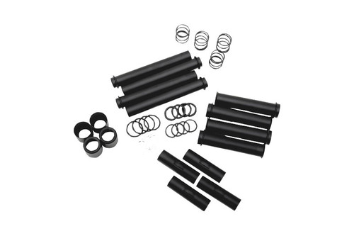 Drag Specialties Satin Black Pushrod Tube Kit for '99-14 Twin Cam