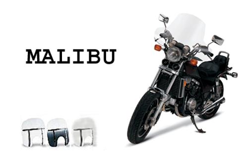 "Memphis Shades Handlebar Mount Windshield -Malibu Style for Hondas with 7/8-1"" Bars"