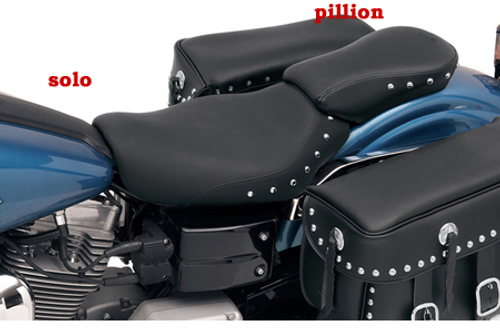Saddlemen Renegade Deluxe Pillion Pad for '04-05 Dyna Glide -Studded Solo seat sold separately