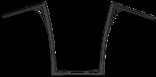 Roland Sands Design 1.25 Inch King Ape Hanger -19 Inch Black Powder-Coat