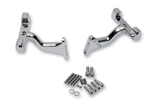 Drag Specialties Raised Passenger Floorboard Mounts for '93-16 FLHT/FLHR/FLTR Models -Chrome