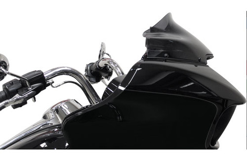 Klock Werks 9 inch Sport Low Flare Windshield for '15-Up Road Glide Custom and Road Glide Special Black