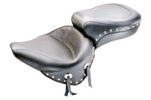 Mustang One-Piece Wide Super Touring Seat  for Heritage Springer '00-05   (w Standard Rear Tire)-Studded