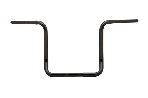 Burly Brand 1 1/4 inch Bagger Ape Hangers for Harley Davidson Electra Glide, Street Glide, Ultra Limited Low and Tri Glide '14-Up -15 Inch -Black