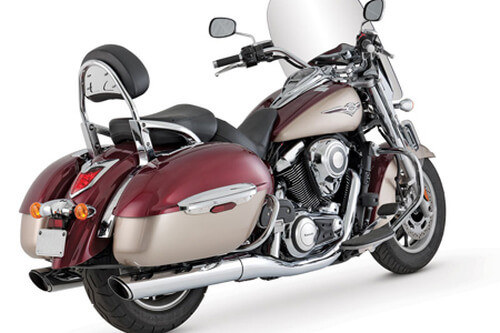 Vance & Hines Twin Slash Slip-Ons for Nomad 1700 & Voyager & Vaquero 1700 '09-14