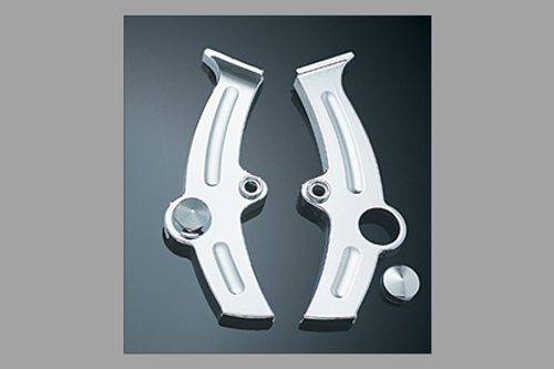 Kuryakyn Boomerang Frame Covers for '00-07  FXST (ex. FXSTD) & '00-07 FLST (ex. FLSTF & FLSTN)  Models  Pair