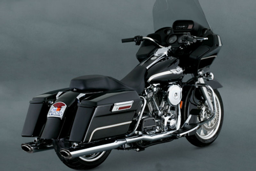 Vance & Hines Dresser Duals Header Pipes for '95-08 Harley Davidson Touring Models - Chrome