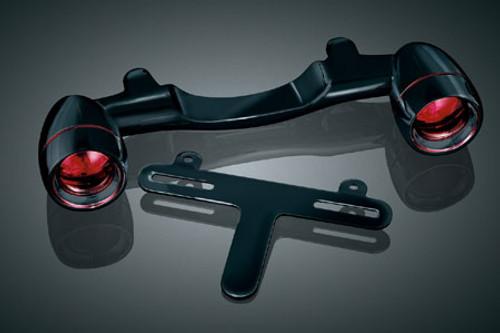 Kuryakyn Bullet Light Rear Turn Signal Bar for Dressers, Road Kings and FLST -Black