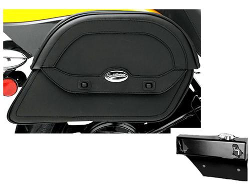 Saddlebag Package for Yamaha Models Saddlemen Cruis'n Slant Saddlebags and Easy Brackets