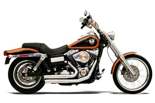 Bassani Exhaust  Firesweep Exhaust w/ Turnout Ends for Dyna '06-15  Chrome