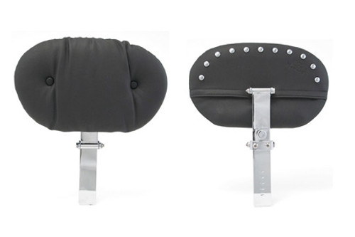 Mustang Seats Regal Driver Backrest (Post & Pad ONLY) -Chrome Studs (For use with One Piece Super Touring Seat #79604)