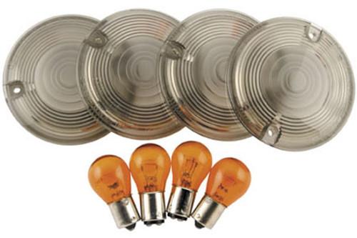 Biker's Choice Smoked Turn Signal Lens Kits '86-10 FLT,FLHR ;(exc. FLHRS,FLST,FXRD,FXRT) HD#69308-02