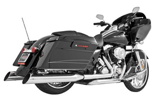 Freedom Performance Right Side Tuck & Under Headers for '95-08 FLHT/FLT -Chrome DOES NOT INCLUDE MUFFLERS