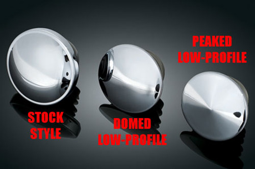 Kuryakyn Replacement Gas Cap Vented, Right-Hand Thread '96-Up Harleys w/  Screw Type Cap -Stock Style