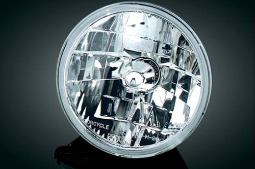 Adjure 7 inch Headlight for V-Star 650 Classic & 1100 Classic - Diamond Cut Ice Smooth Clear Lens