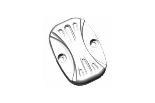 Arlen Ness Brake Master Cylinder Covers for '08-Up FLT/H-D FL Trike & '06-Up V-Rod -Deep Cut Chrome, Front