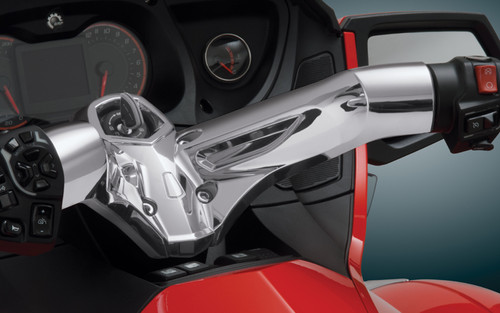 Big Bike Parts Chrome Handlebar Cover    for '10-14 Can Am RT