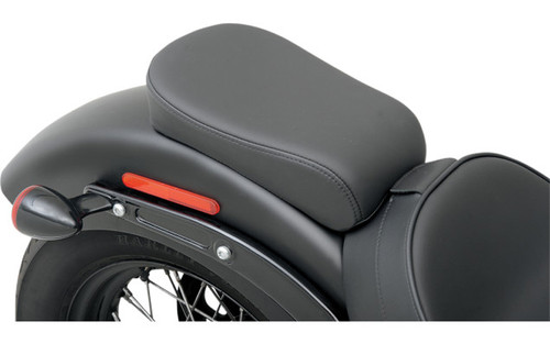 Drag Specialties Optional Rear Seat for Solo w/ Driver Backrest Option for '11-13 FXS & '12-15 FLS -Wide Smooth