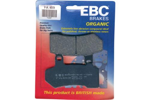 EBC Brake Pads FRONT Semi Sintered V Pads for '88-06 FXSTS, '97-03 FLSTS, '05-07 FLSTSC'08-10 FLSTB, '84-99 (all)'94-99 FLHR/FLHRCI-Pair OEM# 43063-83/83A/83C