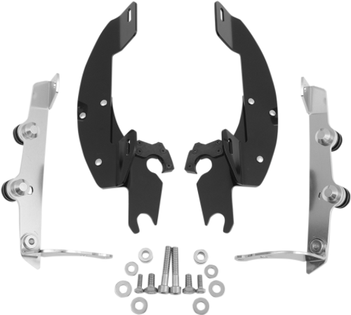 Memphis  Shades  Batwing Windshield Mounting Kit for Aero 750 '04-09-Black FAIRING AND WINDSHIELD NOT INCLUDED