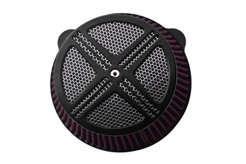 Baron Custom XXX Air Cleaner Assembly for Vulcan 900 CLSC/LT '06 & up and VN900 Custom '07 & up Black