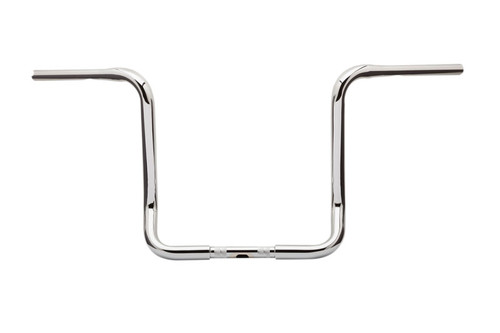 Burly Brand 1 1/4 inch Bagger Ape Hangers for Harley Davidson Electra Glide, Street Glide, Ultra Limited Low and Tri Glide '14-Up -15 Inch - Chrome