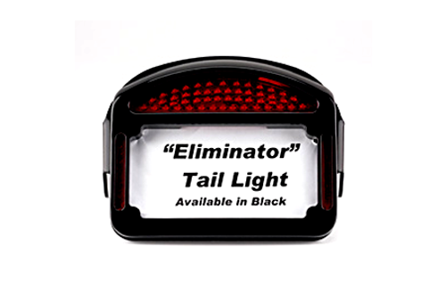 Cycle Visions Eliminator LED Taillight/License Plate Frame for Custom Fenders -Black