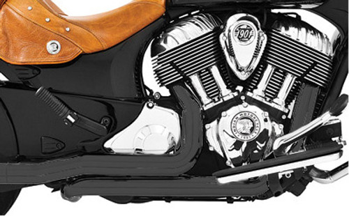 Freedom Performance True Dual Header for '14-Up Indian Chieftain, Roadmaster & Springfield - Black