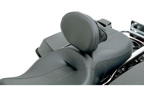 "Drag Specialties Large Pivoting Pad (10 x 7.5"") Driver Backrest Assembly Kit for '88-12 Dresser/Touring Models -Short Bar, Solar Reflective Leather Frame Mount EZ Glide Mechanism is sold separately"
